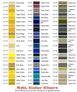 RAL Color Chart Part one