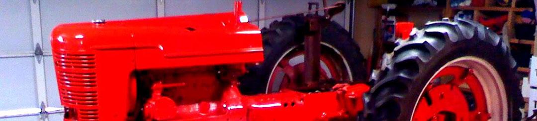 powder coated farm tractor
