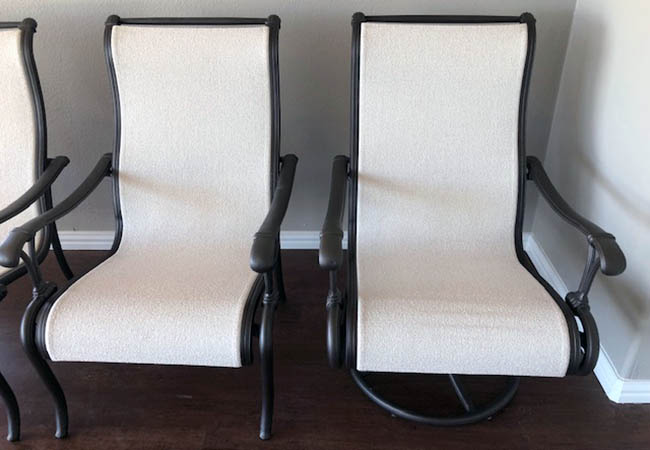 Refinished Patio Chairs
