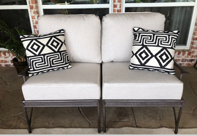 Restored Patio Chairs and Cushions